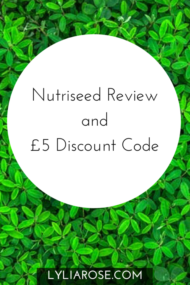 Nutriseed Review and £5 Off Discount Code