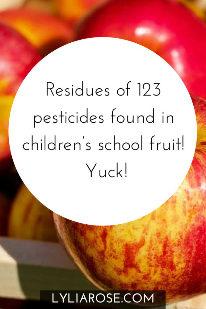 Residues of 123 pesticides found in children's school fruit! Yuck!