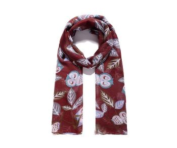 RED OWL Print Oversized Lightweight Fashion Scarf
