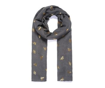 GOLD BEE Print Oversized Lightweight Fashion Scarf