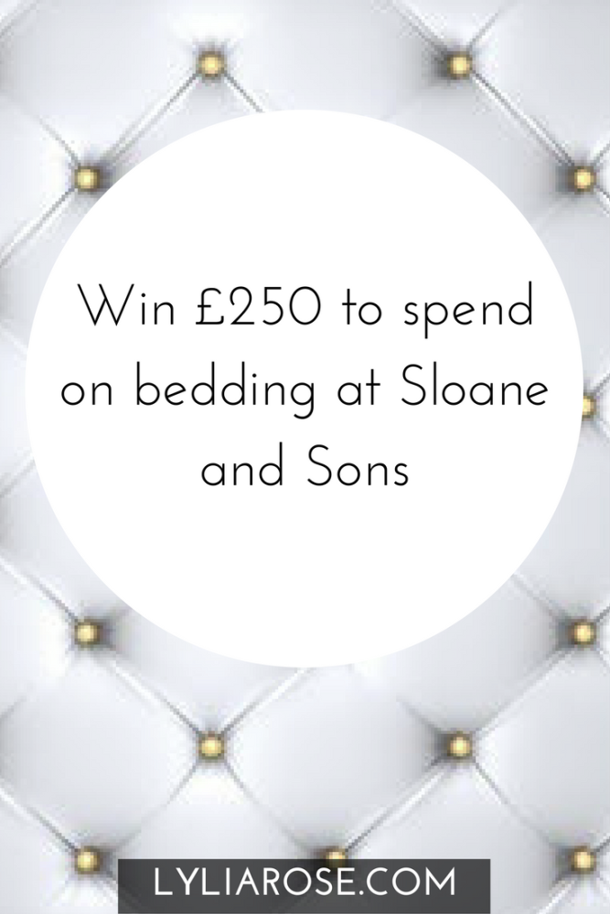 Win £250 to spend on bedding at Sloane and Sons