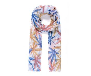 LEAVES Print Oversized Lightweight Fashion Scarf
