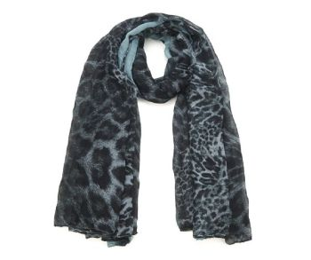 BLUE/BLACK ANIMAL Print Oversized Lightweight Fashion Scarf