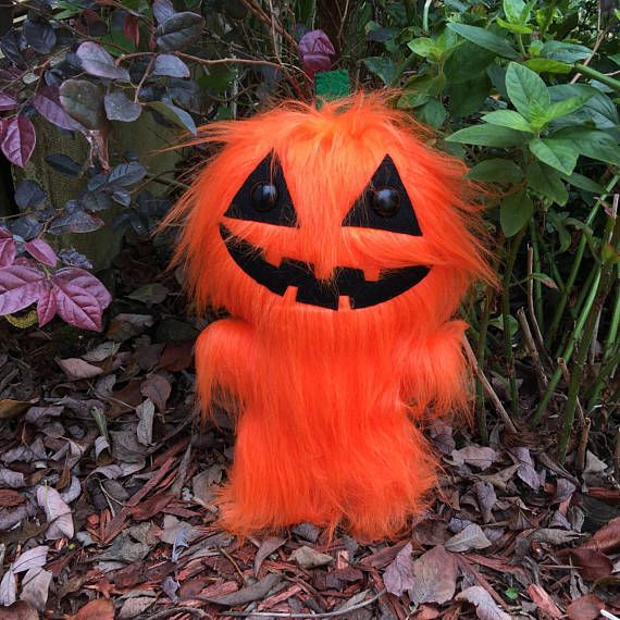 Halloween Costume and Décor Inspiration from Etsy 2 pumpkin furry toy