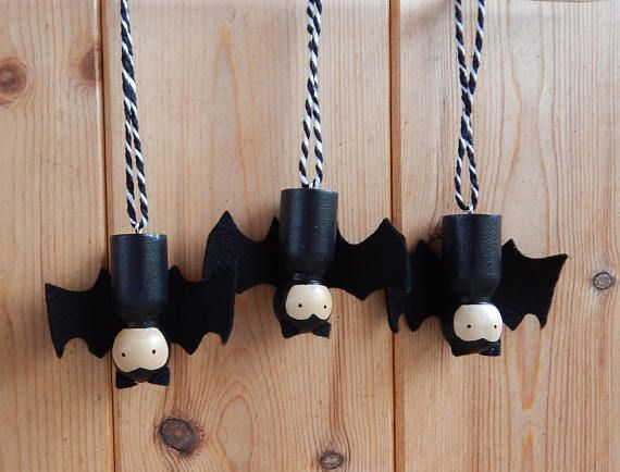 Halloween Costume and Décor Inspiration from Etsy hanging dracula peg dolls