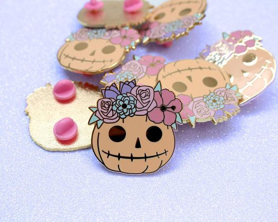 Halloween Costume and Décor Inspiration from Etsy cute pin badge pumpkin