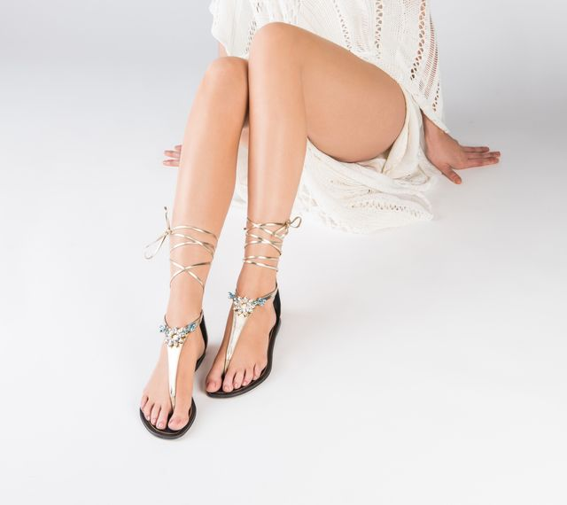 roccapina swarovski crystal sandals - Winter sun - Sparkle up your holiday