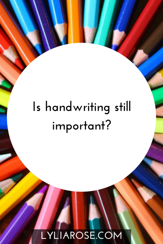 Is handwriting still important - pin