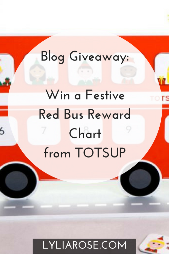 Blog Giveaway- Win a Festive Red Bus Reward Chart from TOTSUP