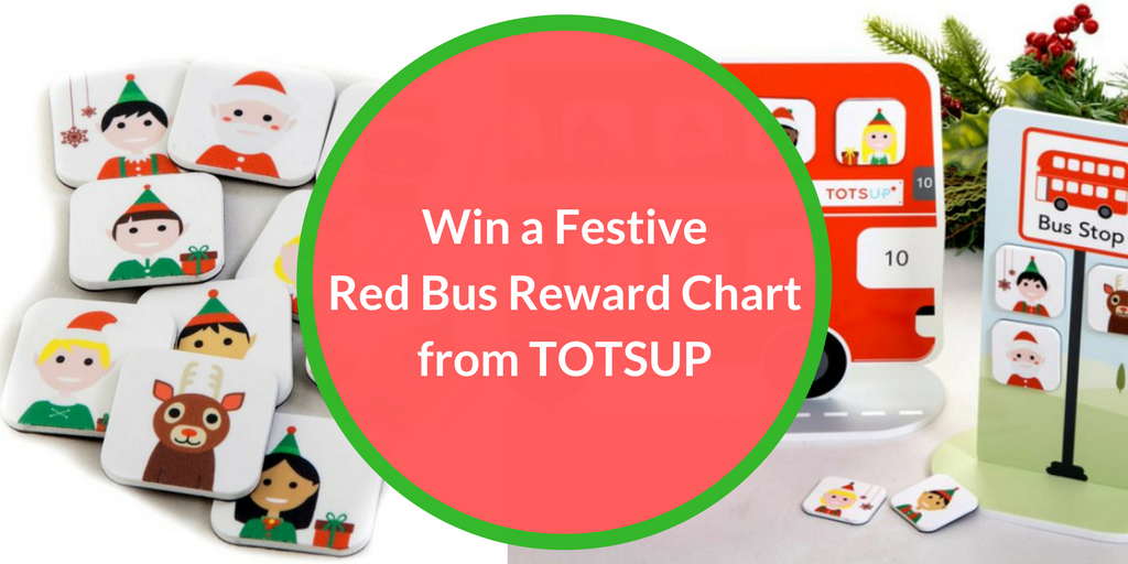 Blog Giveaway-Win a FestiveRed Bus Reward Chartfrom TOTSUP