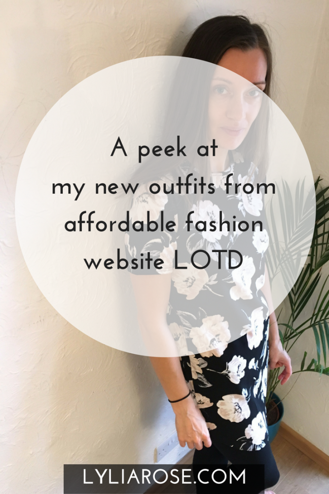 My at home fashion shoot with affordable fashion website LOTD