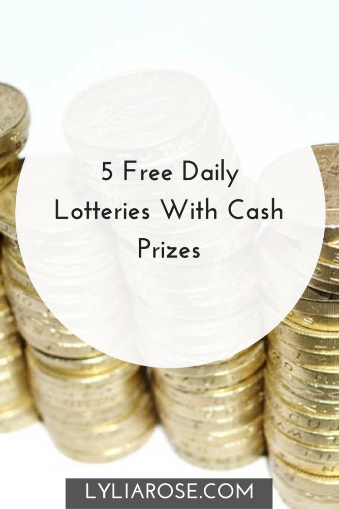 5 Free Daily Lotteries With Cash Prizes