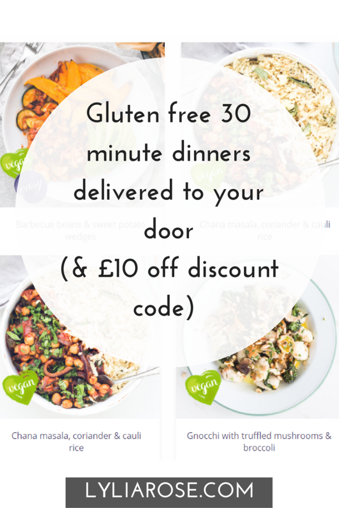 Gluten free 30 minute dinners delivered to your door