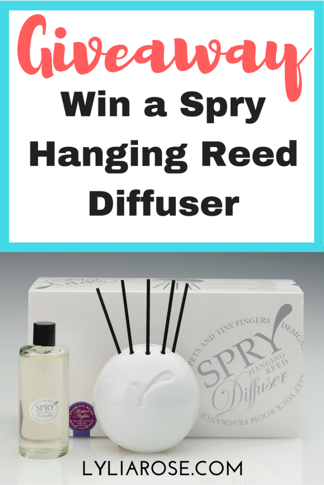 Blog Giveaway- Win a Spry Hanging Diffuser in a fragrance of your choice #w