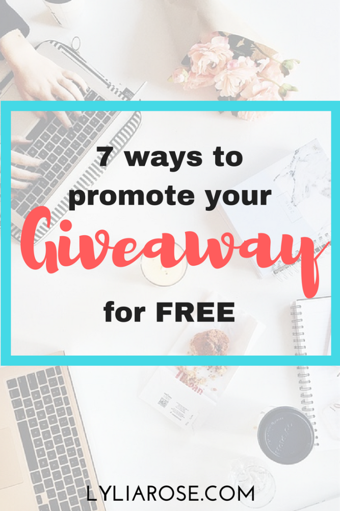7 ways to promote your blog giveaway for free
