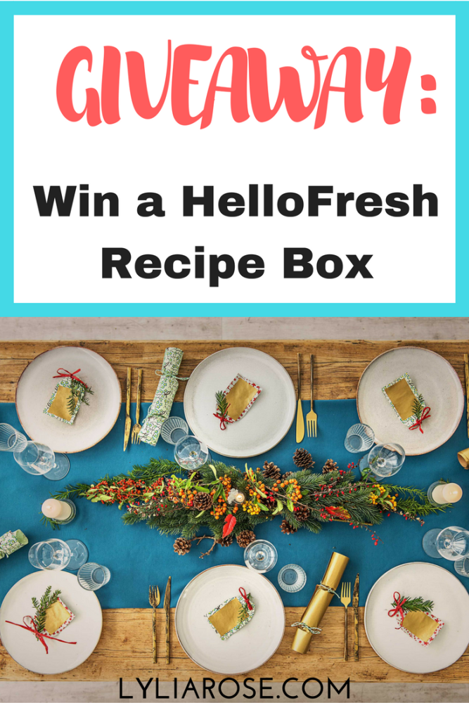 Win a HelloFresh recipe box giveaway