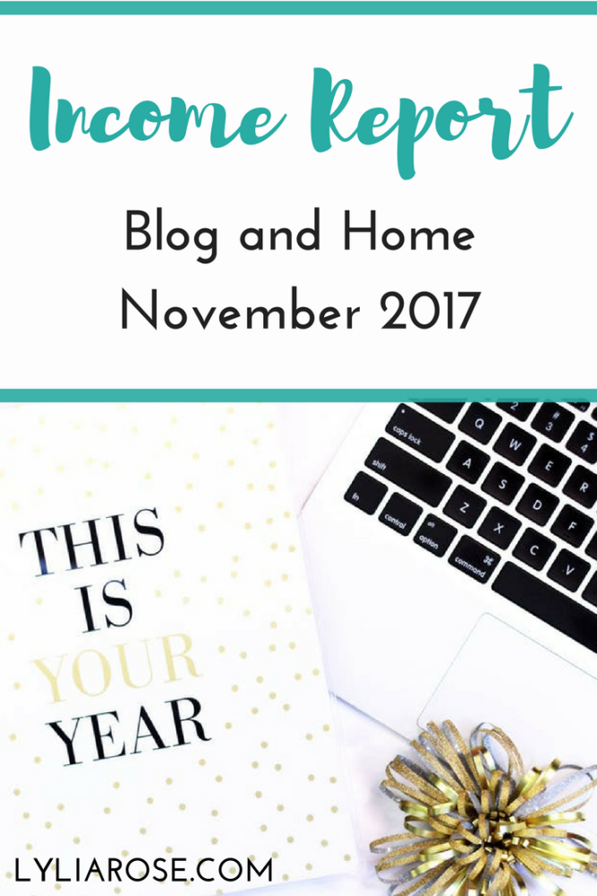 Blog and Home Income Report November 2017