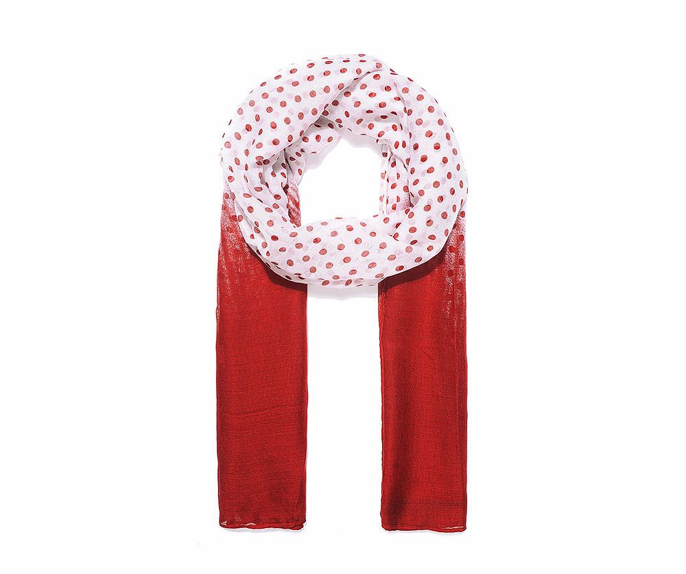 RED DOT Print Oversized Lightweight Fashion Scarf