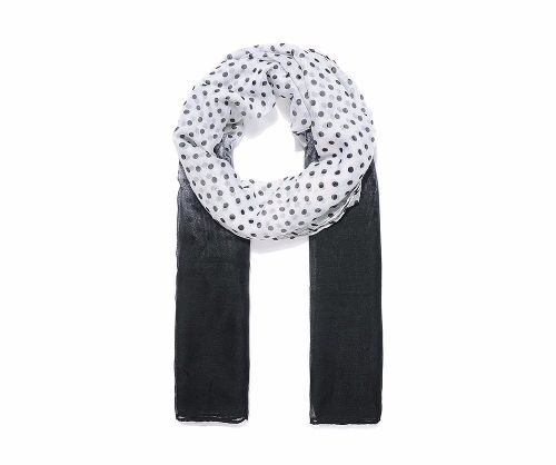 BLACK DOT Print Oversized Lightweight Fashion Scarf