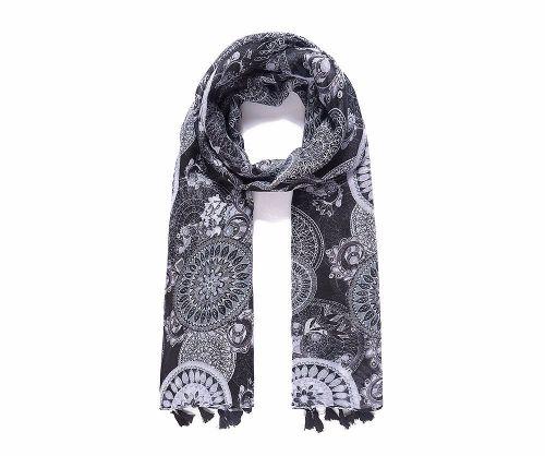 Batik Print Tassel Scarf