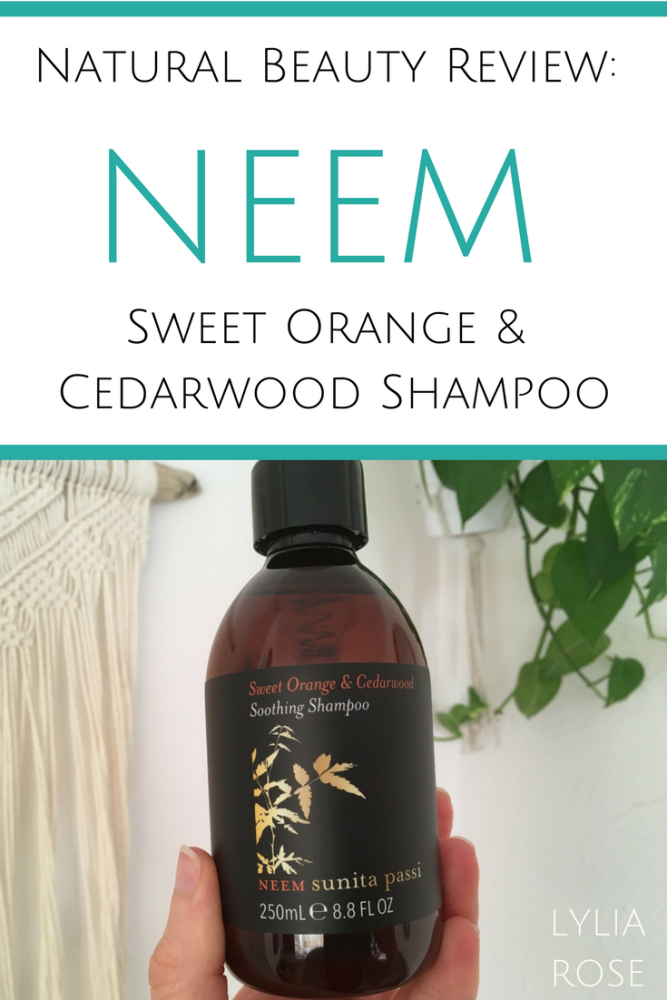 Natural Beauty Review_ NEEM Sweet Orange & Cedarwood Shampoo Tri-Dosha