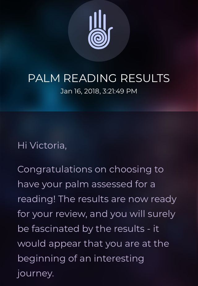 Discover your fate with the PalmistryHD Palm Reading App Results