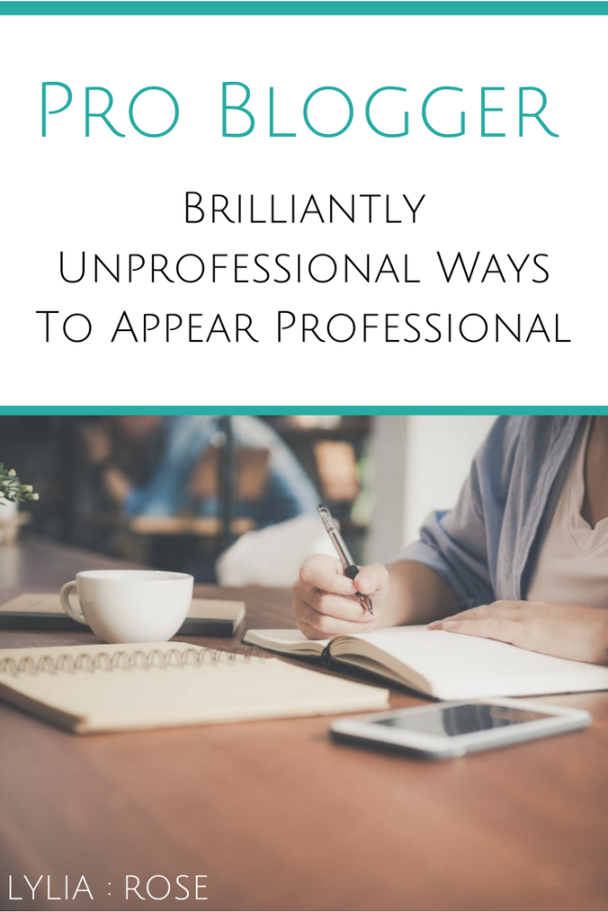 Pro Blogger_ Brilliantly Unprofessional Ways To Appear Professional