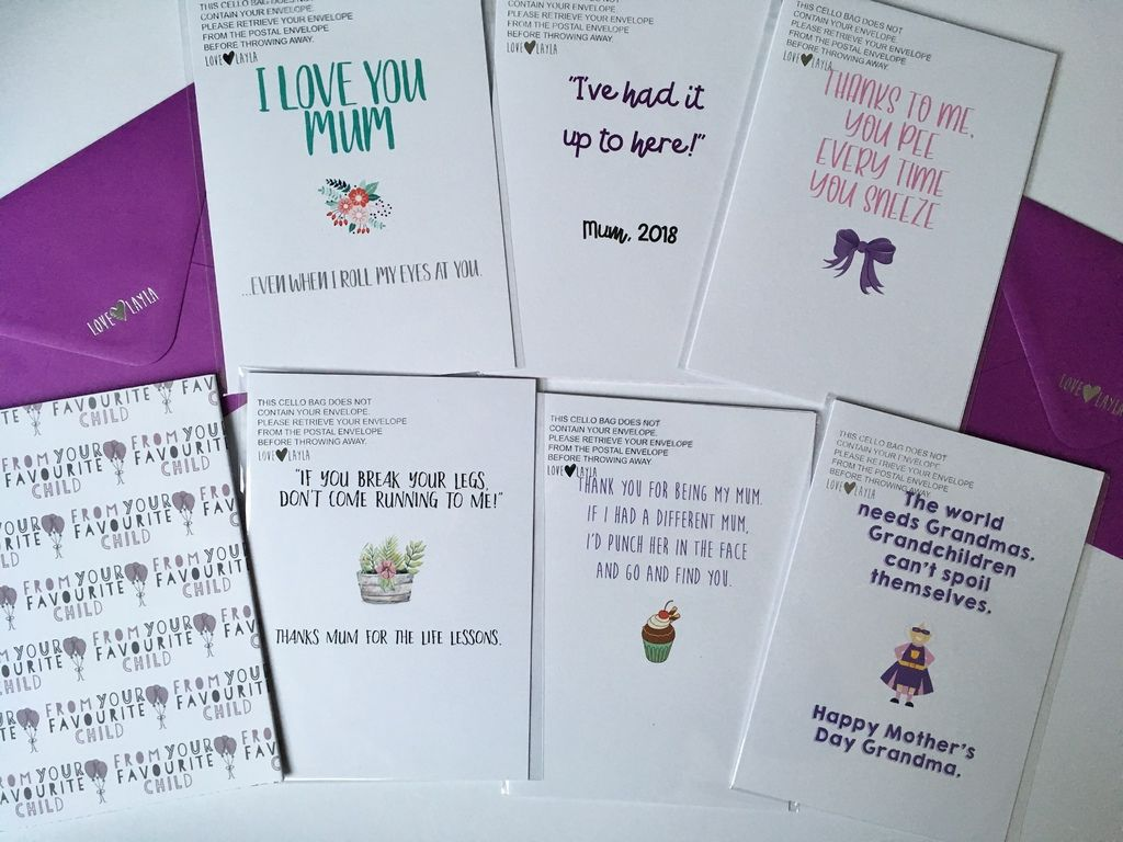 Love Layla Designs Review Alternative Mother's Day Cards and Giveaway