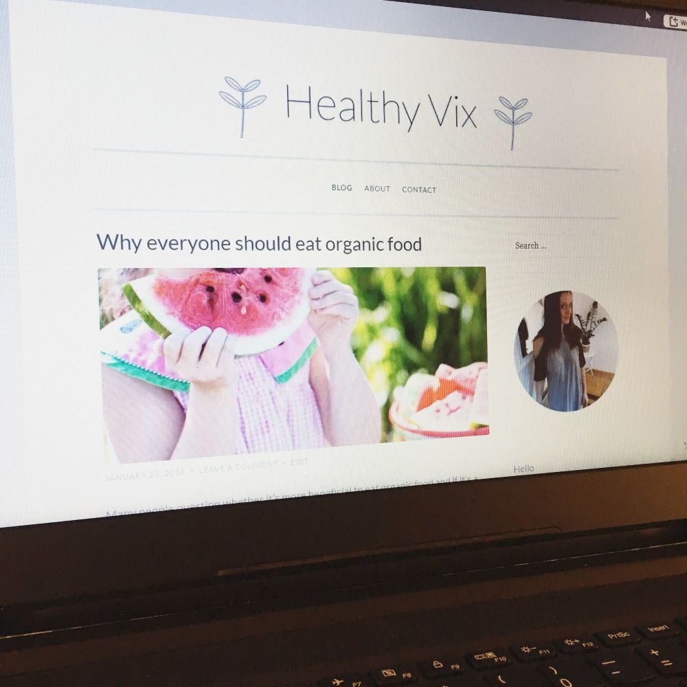 Why I've set up a second blog An introduction to Healthy Vix