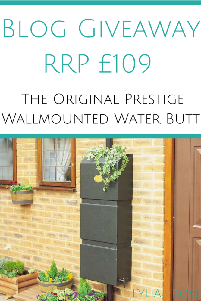 Blog Giveaway RRP £109 _ Win The Original Prestige Wallmounted Water Butt f