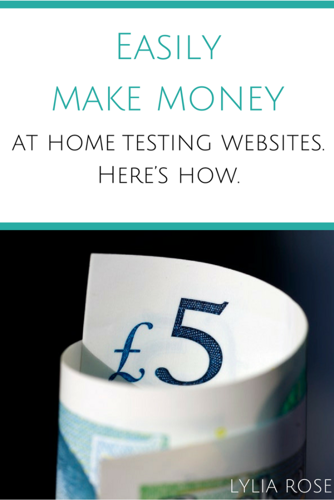 how to easily make money at home testing websites
