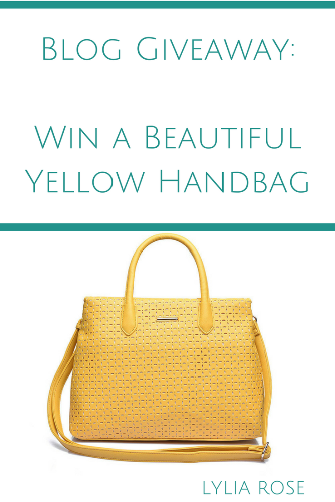 Blog Giveaway_ Win a Beautiful Yellow Handbag