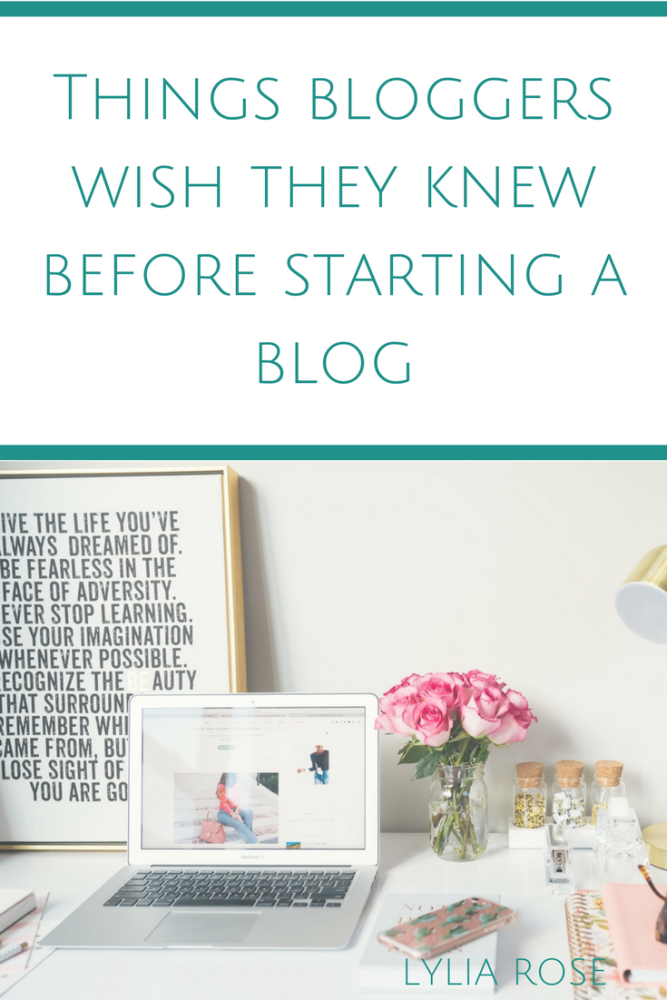Things bloggers wish they knew before starting a blog