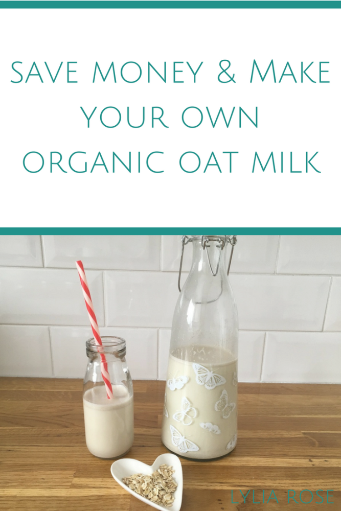 How to save money by making your own organic oat milk
