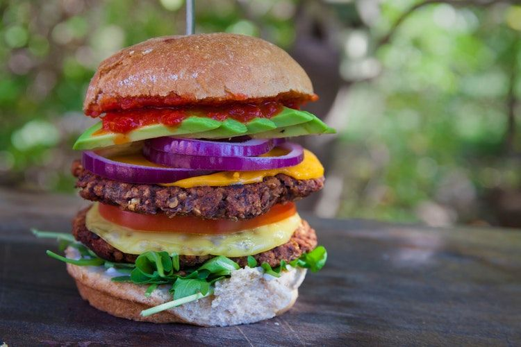 A guide to creating a permanent barbecue pit in your garden - vegan burger