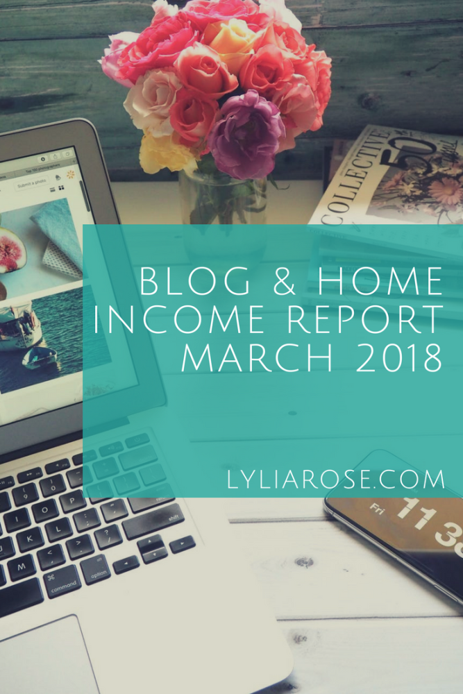 Blog and Home Income Report March 2018