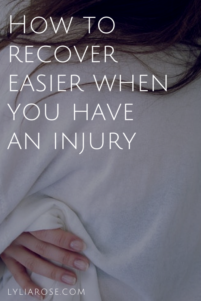 How to recover easier when you have an injury