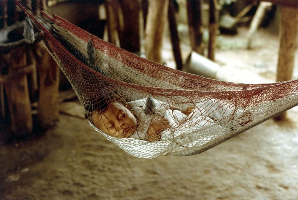 Different sleep habits around the world - photo of baby in hammock sleeping
