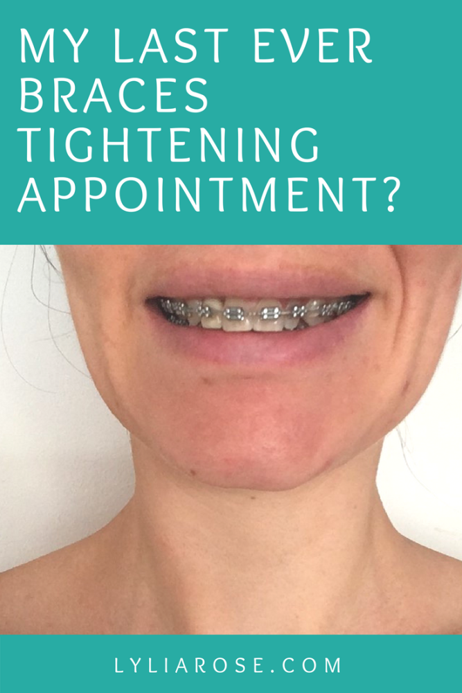 My last ever braces tightening appointment_