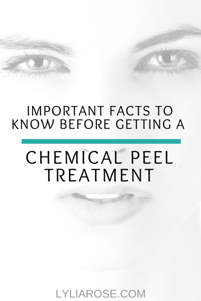 Important Facts To Know Before Getting a Chemical Peel Treatment