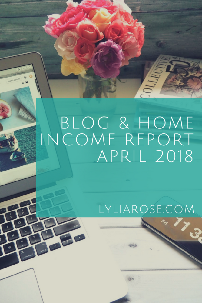 Blog and Home Income Report april 2018