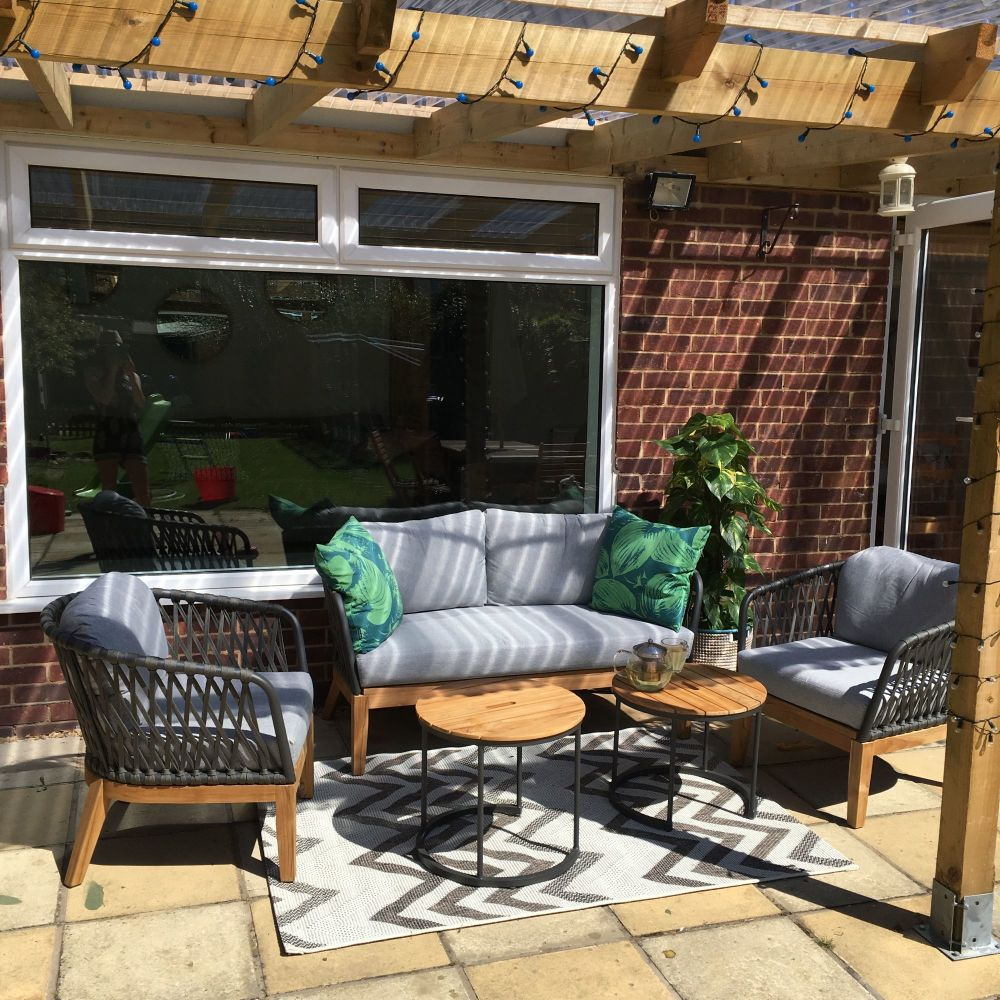 How we are creating the perfect patio outdoor seating area