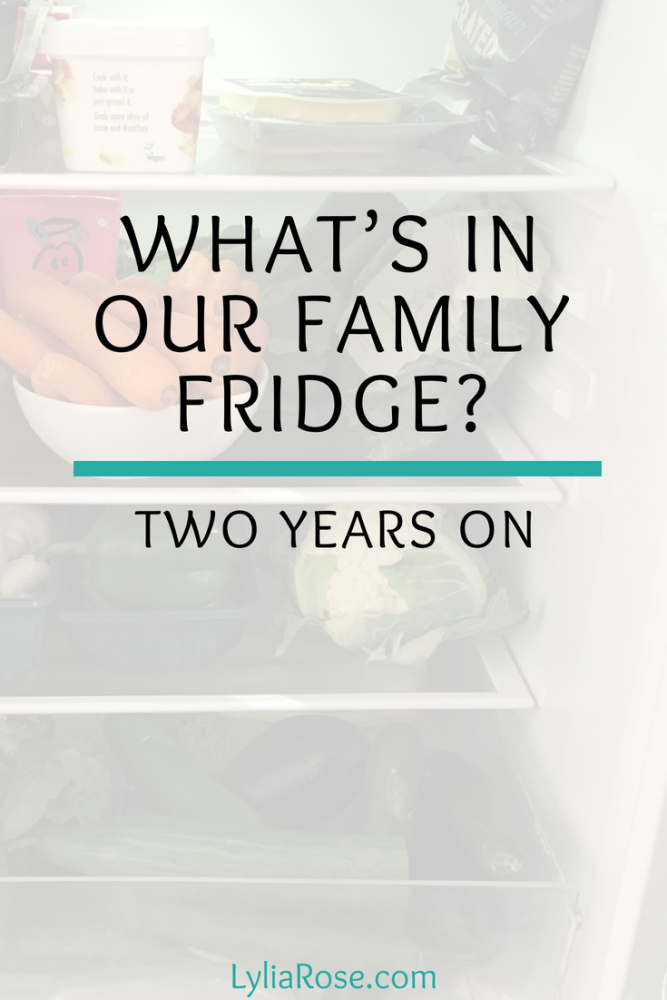 What's in our family fridge_ Two years on.