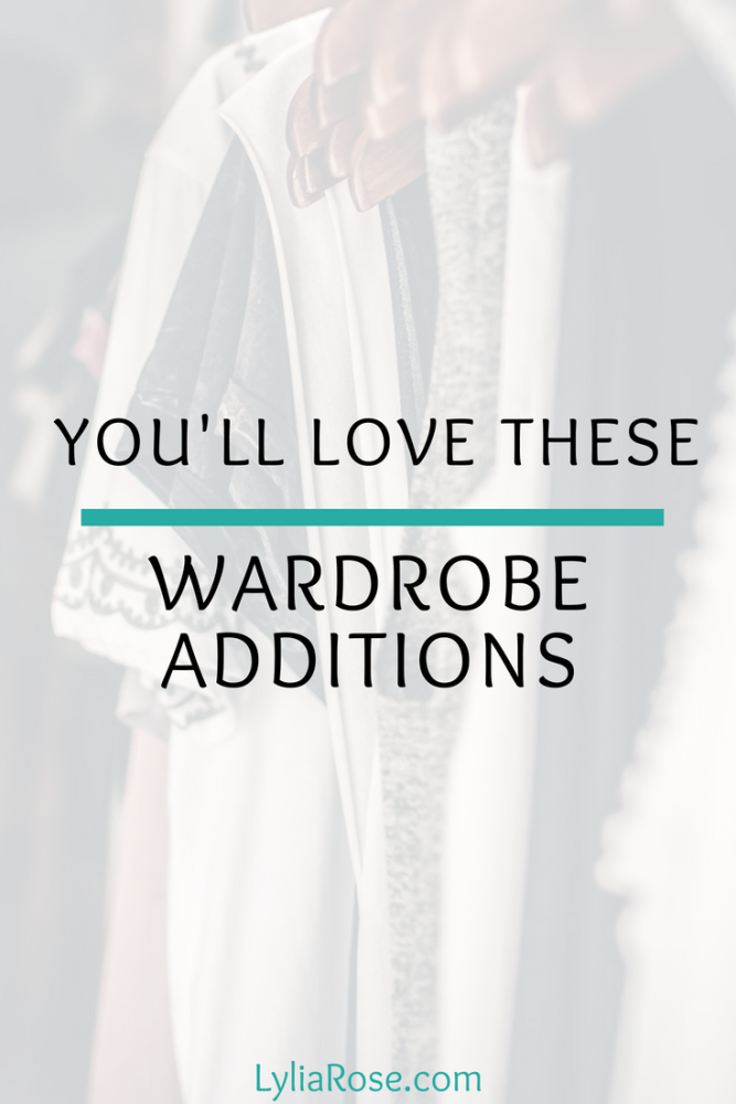 Youll Love These Wardrobe Additions