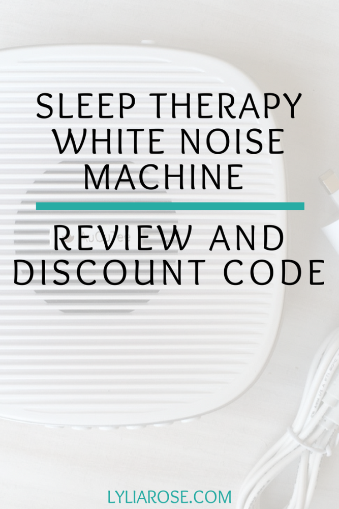 AuCuTee S5 Sleep Therapy White Noise Machine Review and Discount Code
