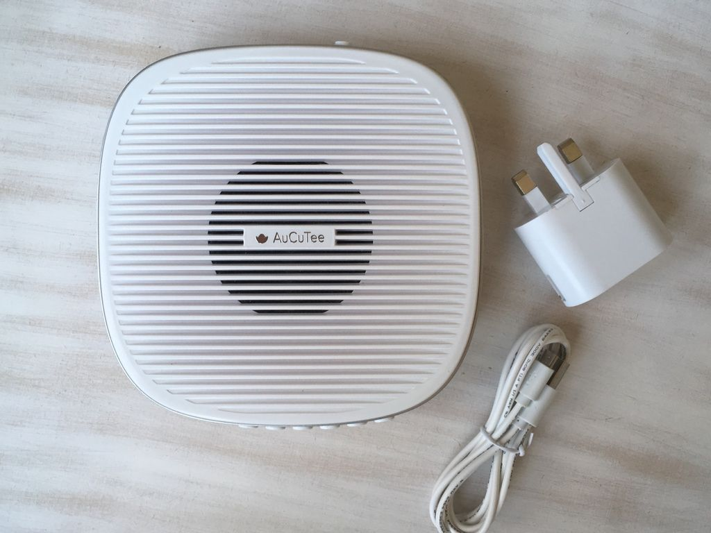 AuCuTee S5 Sleep Therapy White Noise Machine Review and Discount Code unbox