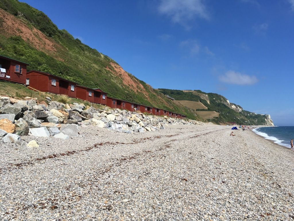 Branscombe Airfield and Campsite review and travel diary - beach huts