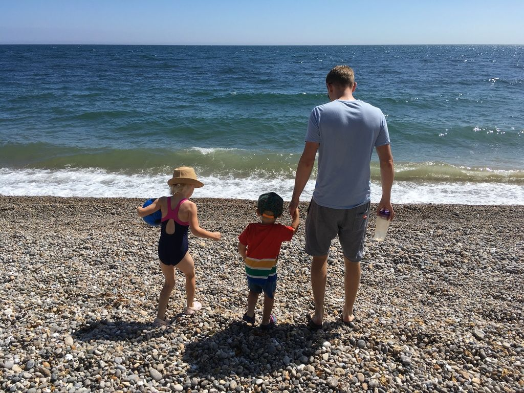 Branscombe Airfield and Campsite review and travel diary - pebble beach