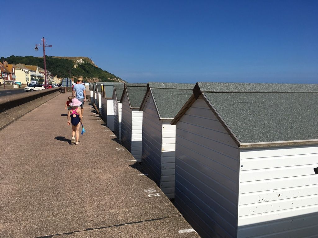 Branscombe Airfield and Campsite review and travel diary - seaton beach pat