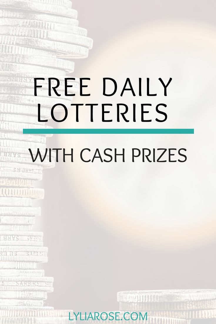 Free Daily Lotteries With Cash Prizes